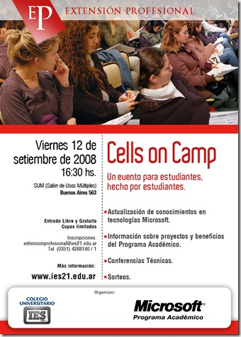 afiche Cells on Camp MAIL