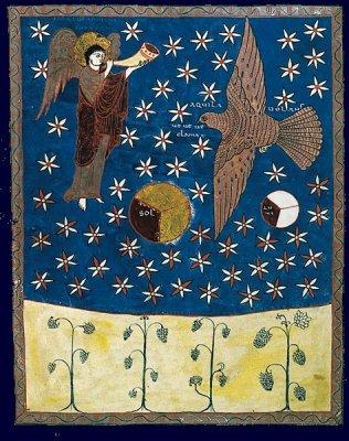 L'adoration des vingt quatre vieillards Beatus de Saint-Sever 11 ème siècle